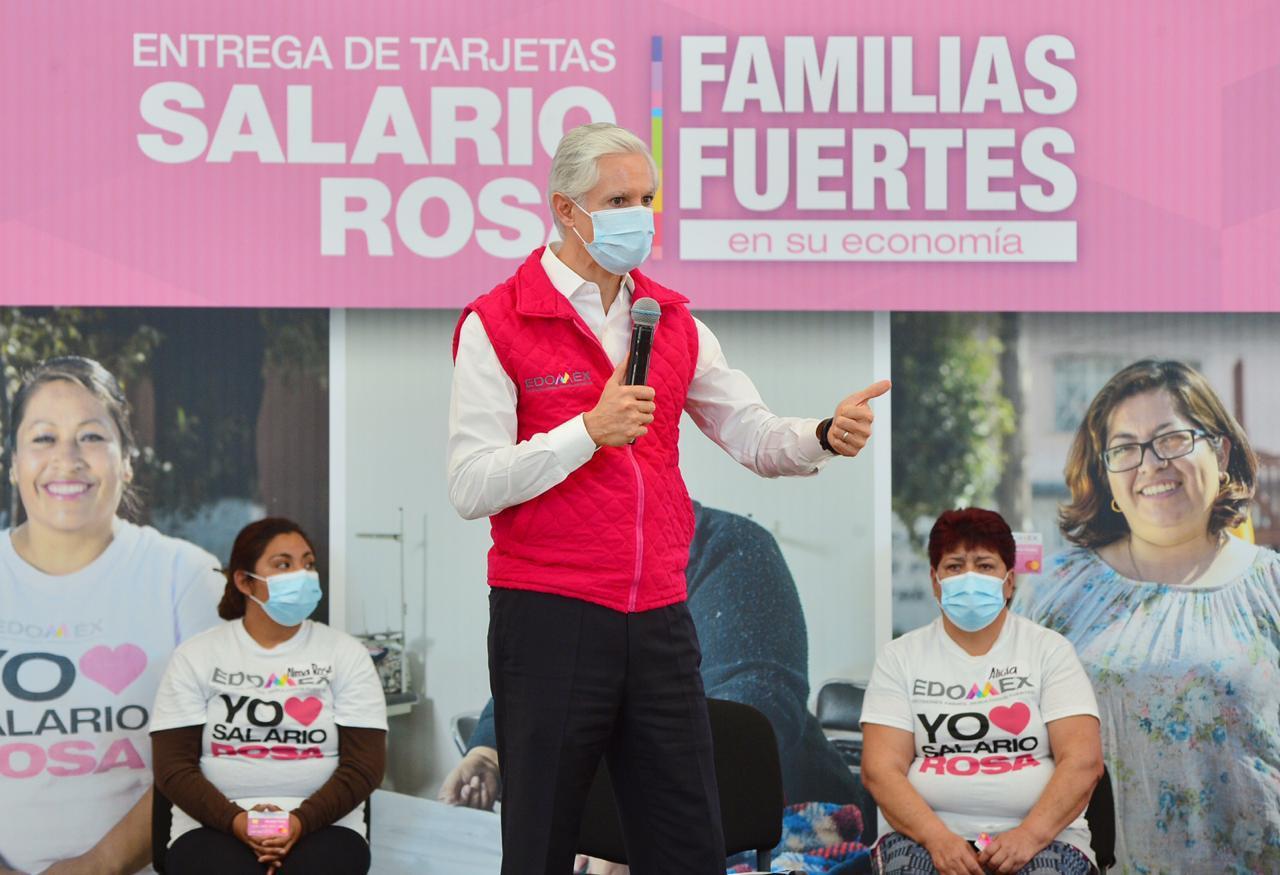 ENTREGAMOS EL SALARIO ROSA PARA APOYAR A LA ECONOMÍA FAMILIAR DE LOS MEXIQUENSES: ALFREDO DEL MAZO