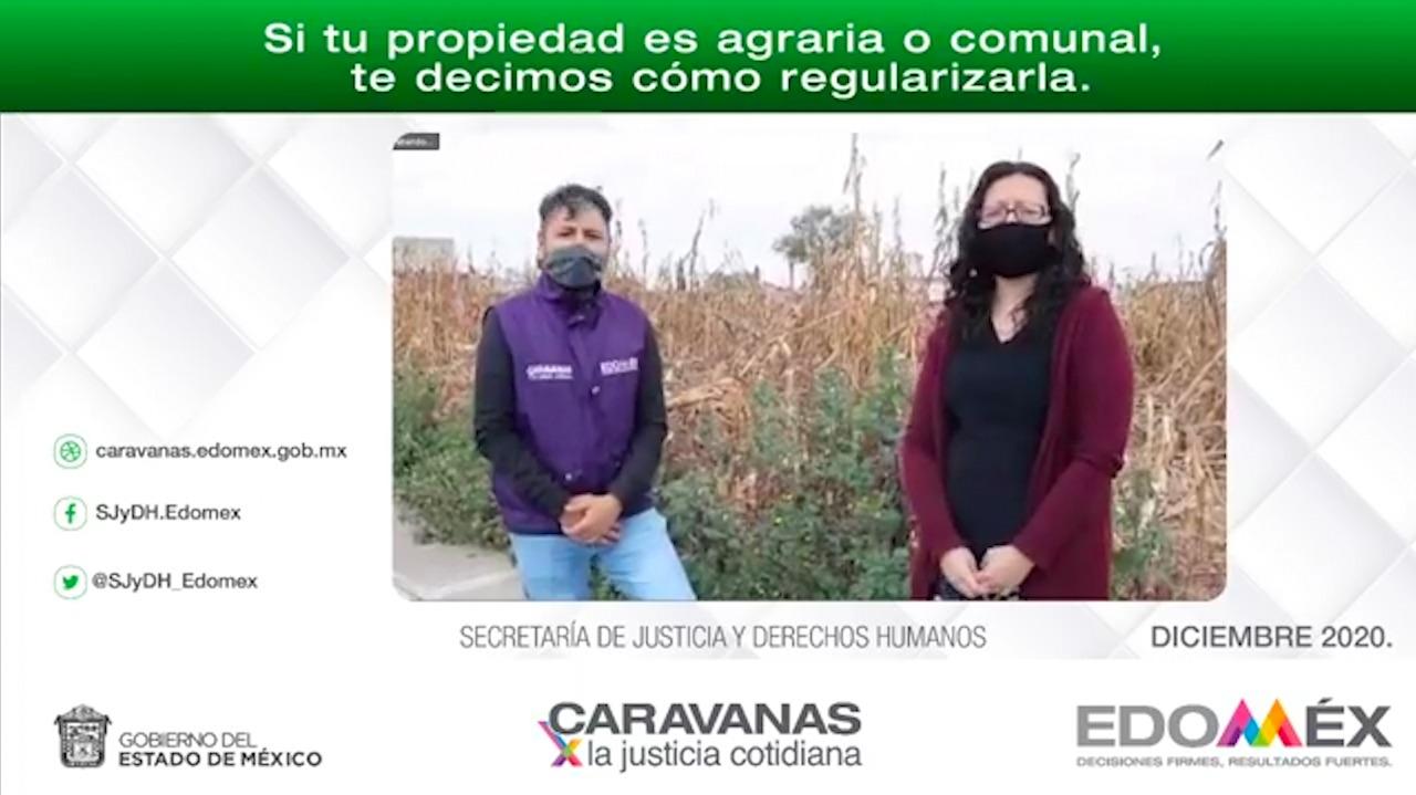 A TRAVÉS DE LAS CARAVANAS EN LÍNEA RESPONDEN DUDAS SOBRE PROPIEDAD AGRARIA O COMUNAL