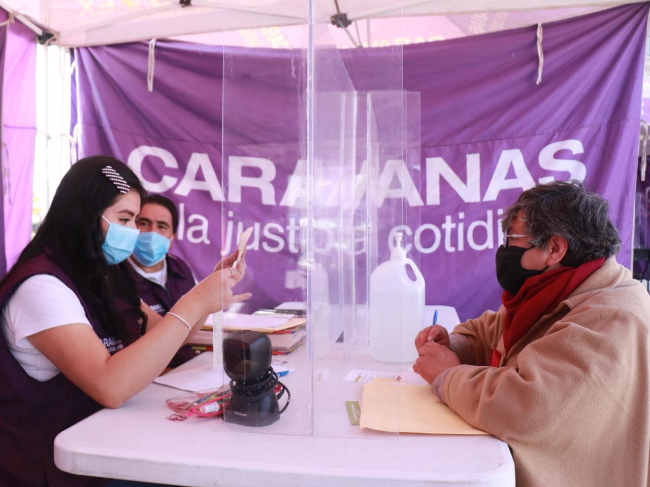 CARAVANAS POR LA JUSTICIA COTIDIANA ATIENDEN A MÁS DE 2 MIL PERSONAS DESDE SU REACTIVACIÓN PRESENCIAL