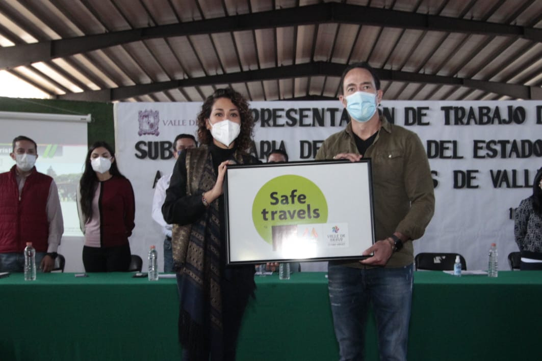 POR DAR SEGURIDAD Y CONFIANZA AL TURISMO, VALLE DE BRAVO RECIBE DISTINTIVO SAFE TRAVELS