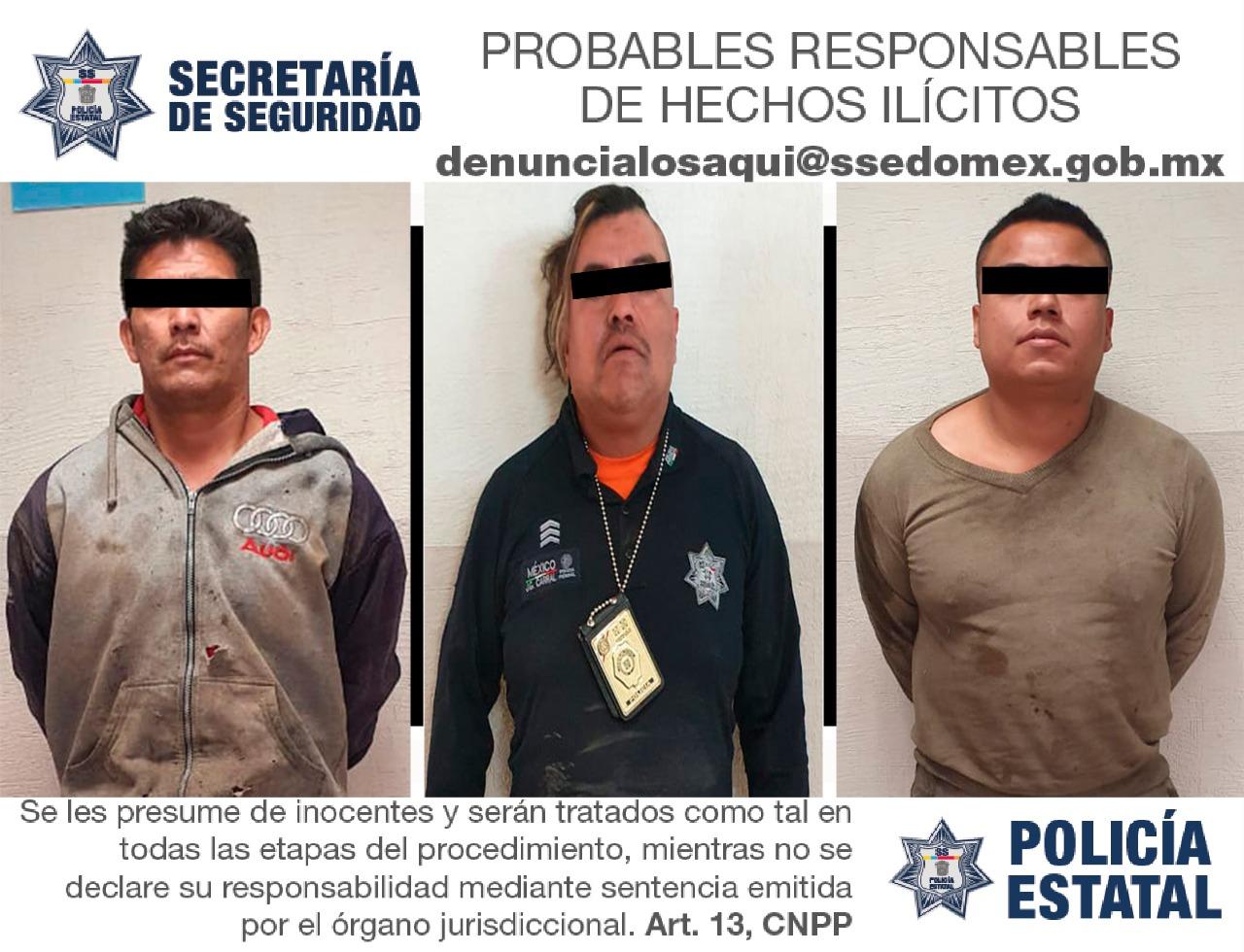 APREHENDEN A TRES SUJETOS PROBABLES RESPONSABLES DEL DELITO DE ROBO EQUIPARADO