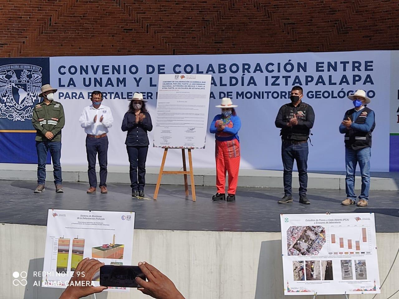 FIRMAN CONVENIO IZTAPALAPA Y UNAM PARA ESTUDIO DE GRIETAS