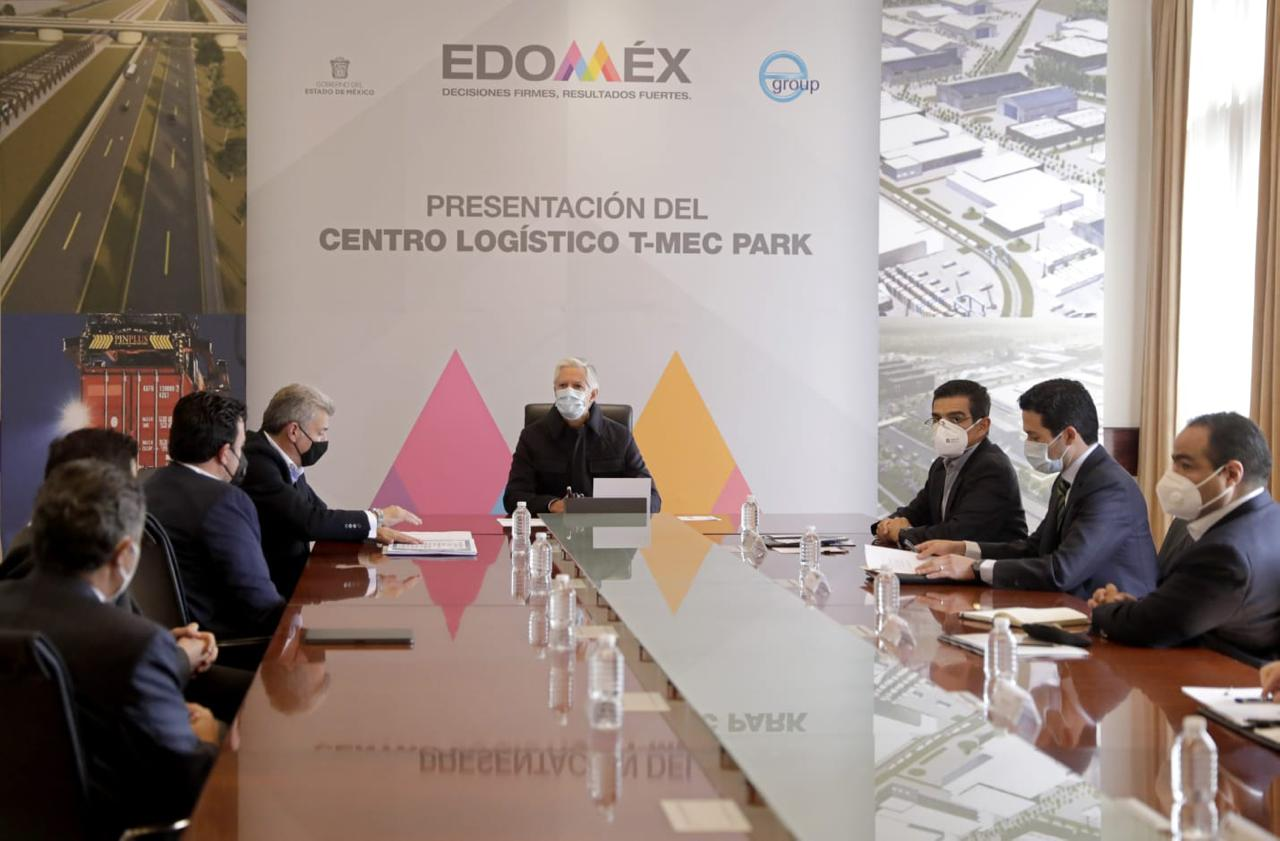 ALFREDO DEL MAZO SE REÚNE CON INMOBILIARIOS A CARGO DE LA CONSTRUCCIÓN DEL CENTRO LOGÍSTICO T-MEC PARK