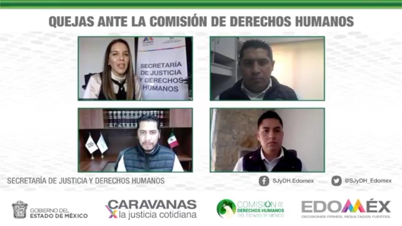 PARTICIPA CODHEM EN CARAVANAS POR LA JUSTICIA COTIDIANA EN LÍNEA