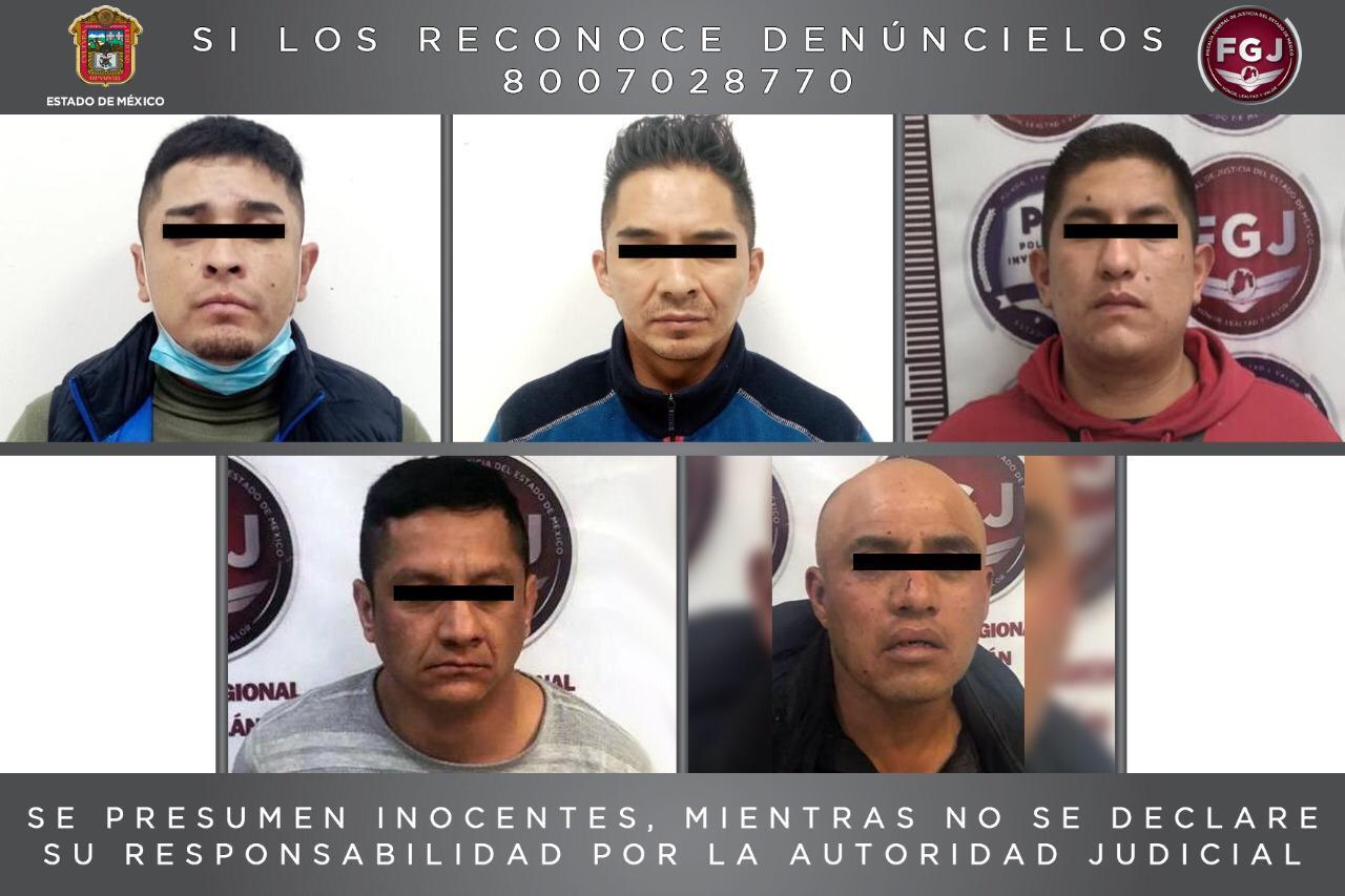 PROCESAN A CINCO SUJETOS POR ROBOS DE VEHÍCULO CON VIOLENCIA