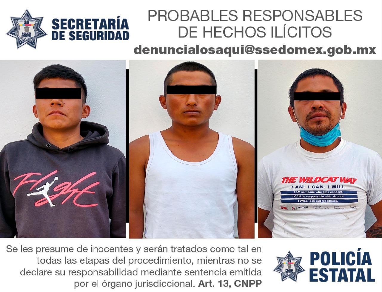 TRES PROBABLES RESPONSABLES DE DELITOS CONTRA LA SALUD Y OPERACIONES CON RECURSOS DE PROCEDENCIA ILÍCITA SON DETENIDOS