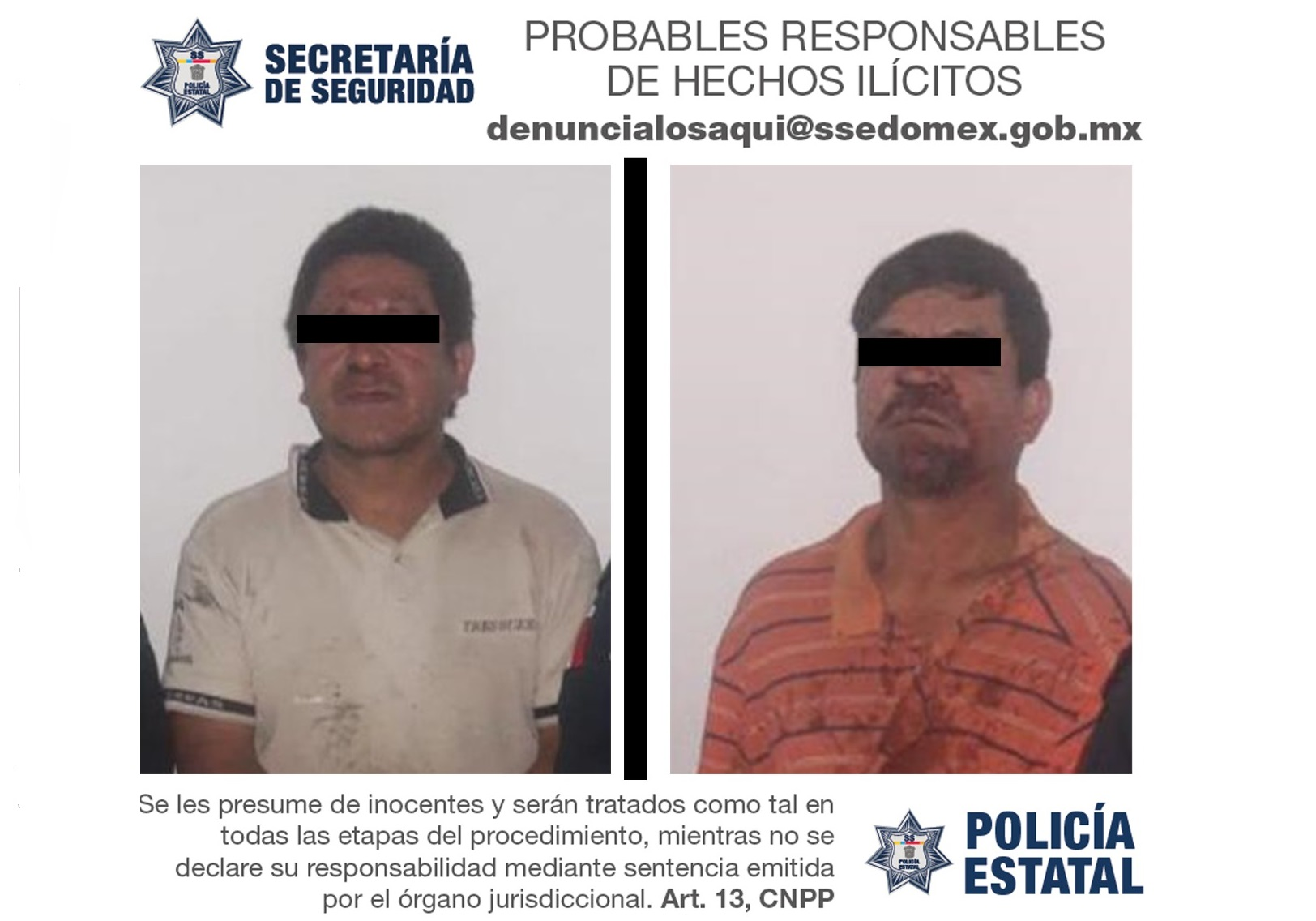 DETIENEN A DOS SUJETOS POR EL DELITO DE ABUSO SEXUAL