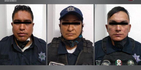 DETIENEN A TRES POLICÍAS MUNICIPALES DE TULTITLÁN POR LA DESAPARICIÓN DE DOS PERSONAS