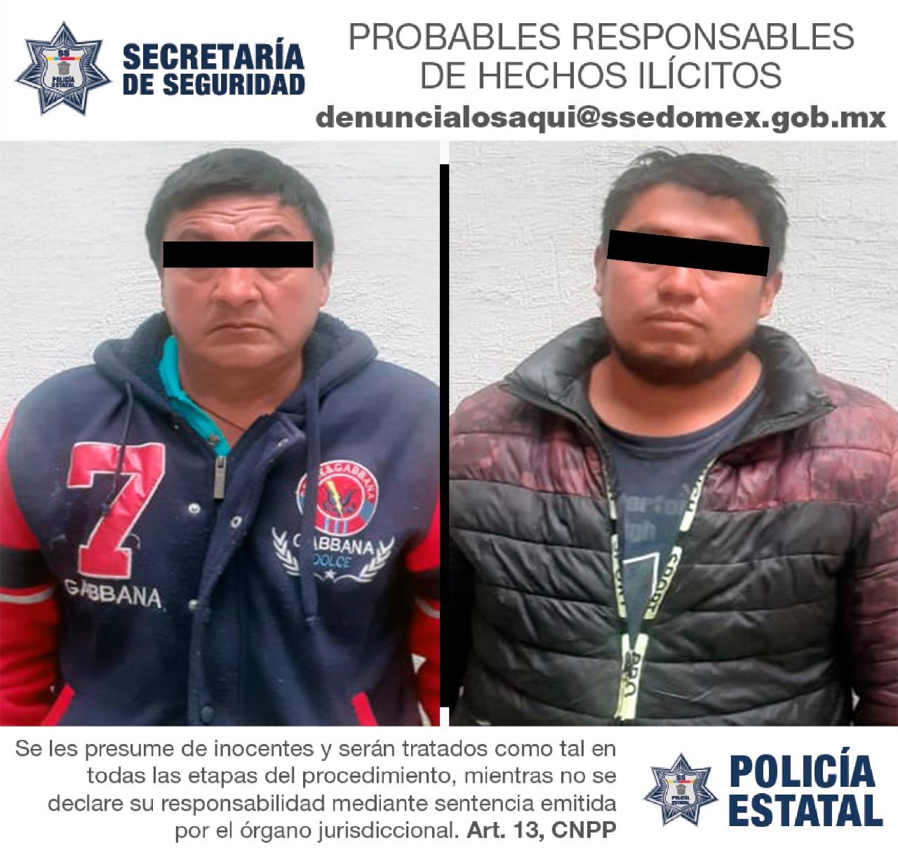 CAPTURAN A DOS SUJETOS POSIBLES IMPLICADOS EN EL DELITO DE ROBO