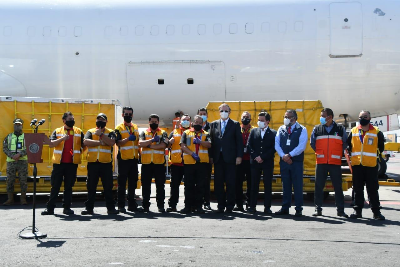 LLEGA A MÉXICO SÉPTIMO EMBARQUE CON VACUNAS CONTRA COVID-19 DE PFIZER