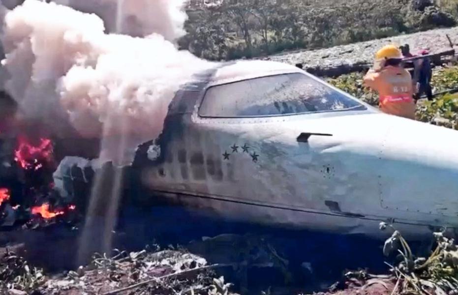 AERONAVE DE LA FUERZA AÉREA MEXICANA SE ACCIDENTA EN VERACRUZ
