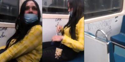 VIDEO: PINTA VAGÓN DEL METRO CDMX Y LA APODAN #LADYRAYONES