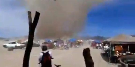 VIDEO: CAPTAN IMPRESIONANTE TOLVANERA EN HIDALGO