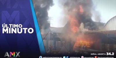 INCENDIO EN LA CENTRAL DE ABASTO DE TULTITLÁN