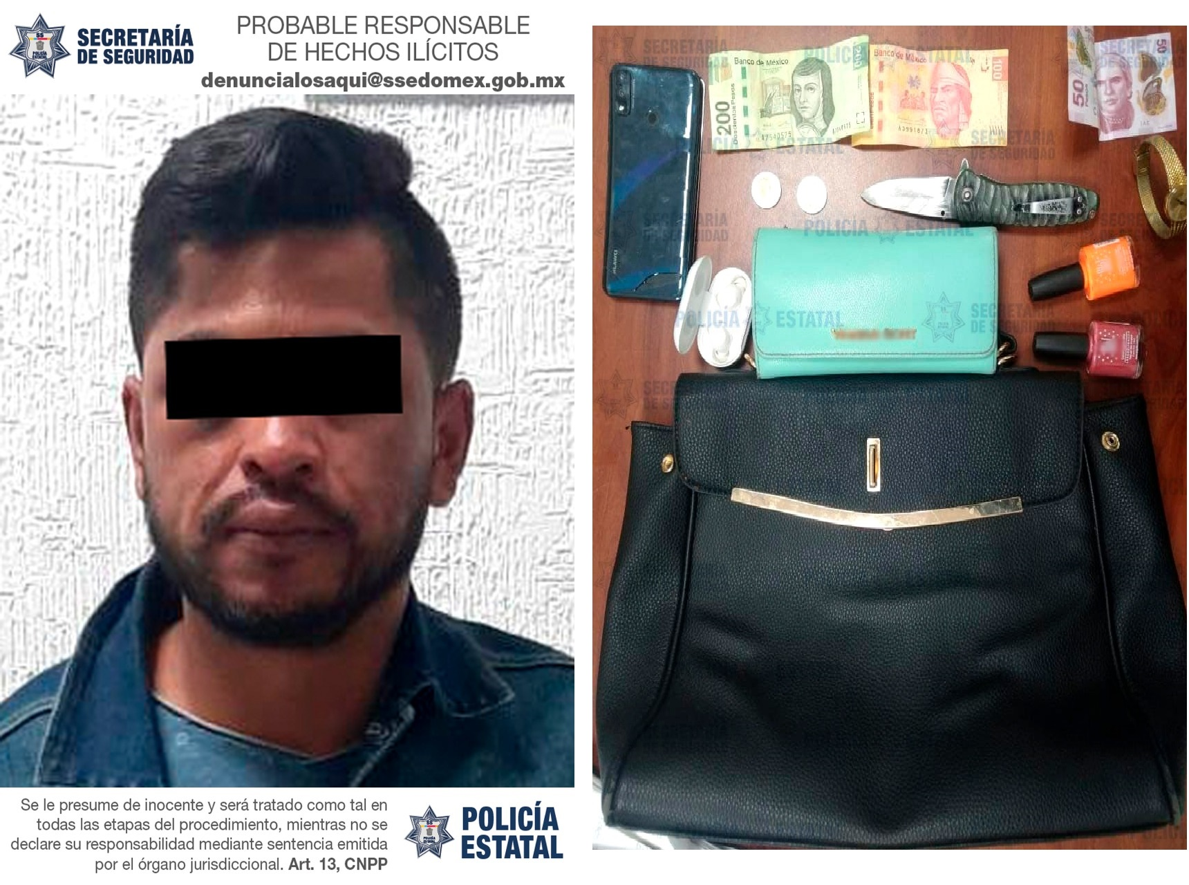 DETIENEN A IMPLICADO EN DELITOS DE ABUSO SEXUAL Y ROBO CON VIOLENCIA