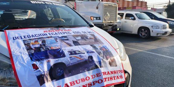 TRANSPORTISTAS DE AMOTAC INICIAN MARCHA EN ECATEPEC