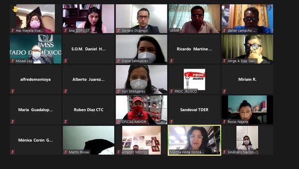 SECRETARÍA DEL TRABAJO REALIZA VIDEOCONFERENCIAS EN BENEFICIO DE SINDICATOS MEXIQUENSES