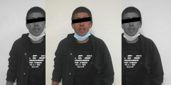 GRACIAS AL C5 DETIENEN EN FLAGRANCIA A PRESUNTO ASALTANTE TRAS CRISTALAZO