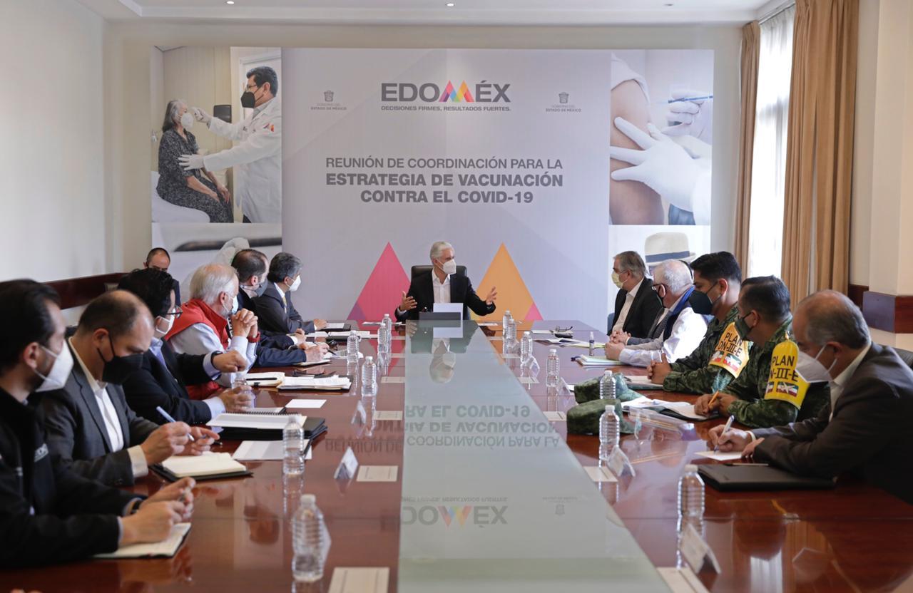 EDOMÉX Y GOBIERNO FEDERAL COORDINAN ESTRATEGIA DE VACUNACIÓN CONTRA COVID-19