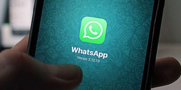 un mensaje de WhatsApp e