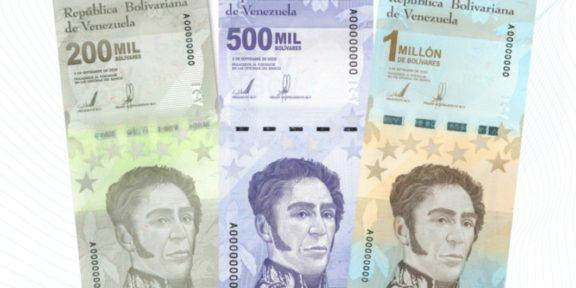VENEZUELA ESTRENA BILLETE DE 1 MILLÓN DE BOLÍVARES
