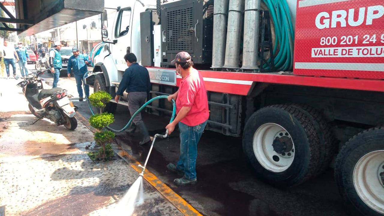 APOYA CAEM A MEXIQUENSES AFECTADOS POR FRACTURA EN DUCTO DE CONAGUA