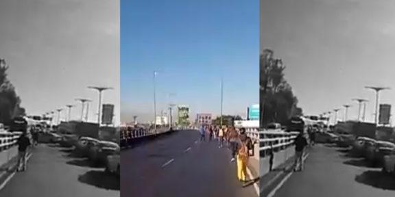 A PIE AVANZAN EN LA MÉXICO – PACHUCA DURANTE PROTESTA DE TRANSPORTISTAS