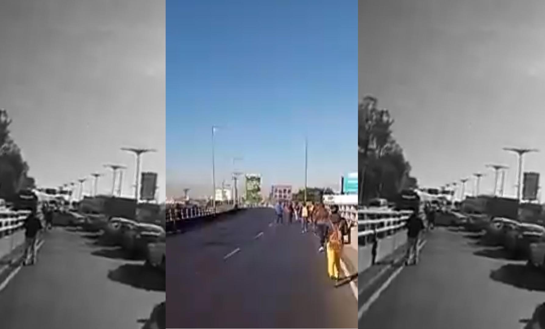 A PIE AVANZAN EN LA MÉXICO – PACHUCA ANTE PROTESTA DE TRANSPORTISTAS