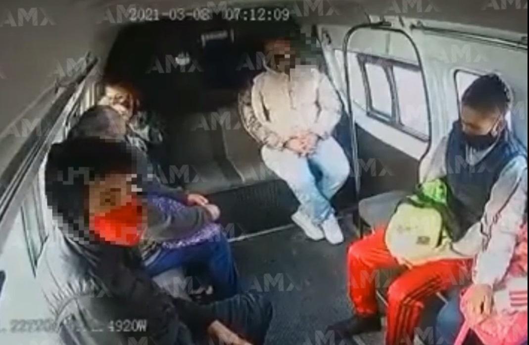 ARRESTAN A SUJETO TRAS PRESUNTAMENTE ASALTAR A UNIDAD DEL TRANSPORTE PÚBLICO EN ECATEPEC