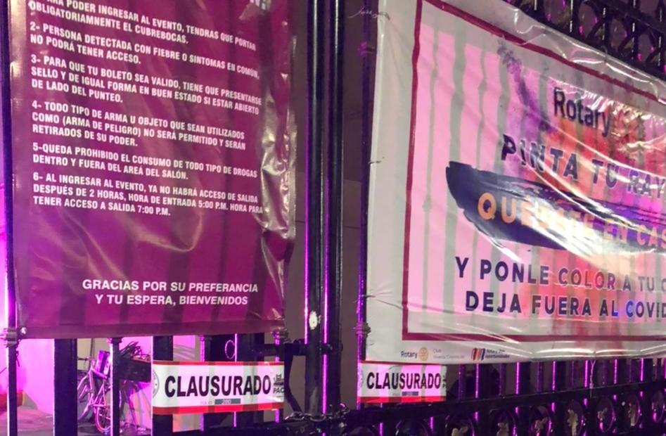 VIDEO: SUSPENDEN EVENTO DE REGUETÓN Y UN SALÓN DE FIESTAS EN PACHUCA