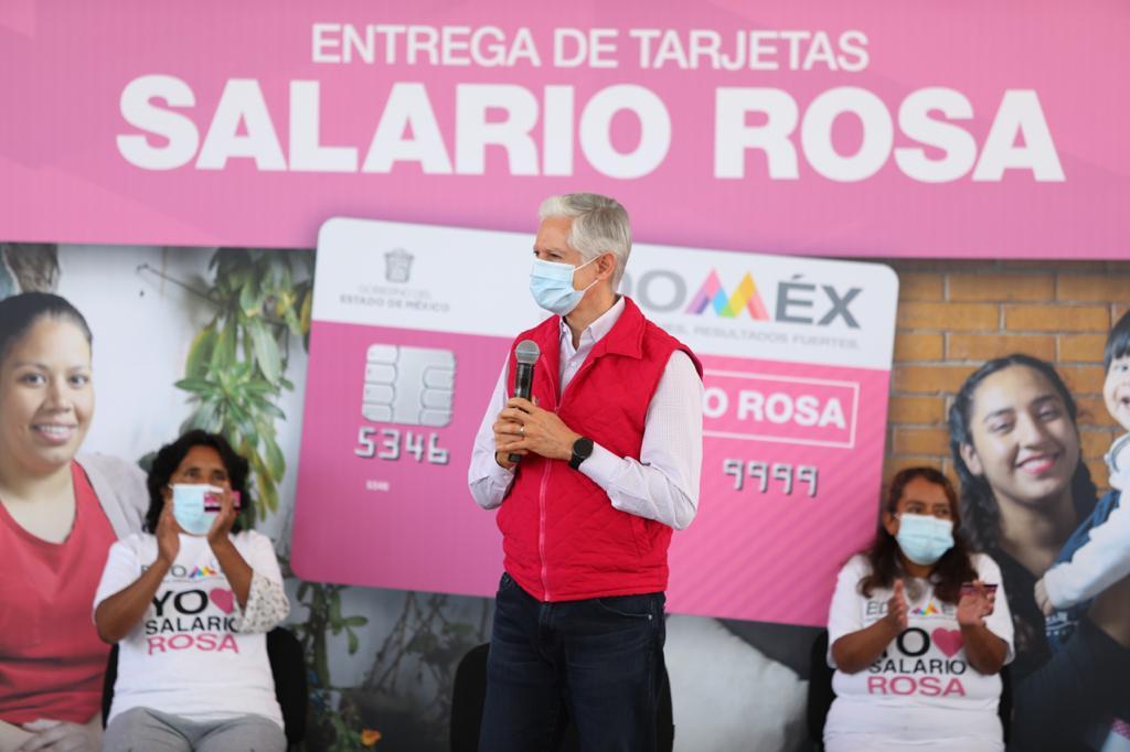 ALFREDO DEL MAZO ENTREGA TARJETAS DEL SALARIO ROSA A MÁS DE 4 MIL MUJERES EN TECÁMAC
