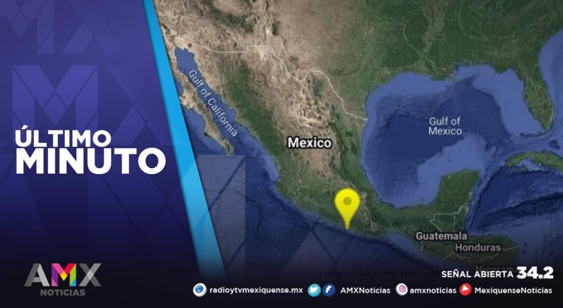 SE REGISTRA SISMO PREELIMINAR DE 5.9 CON EPICENTRO EN SAN MARCOS, GUERRERO