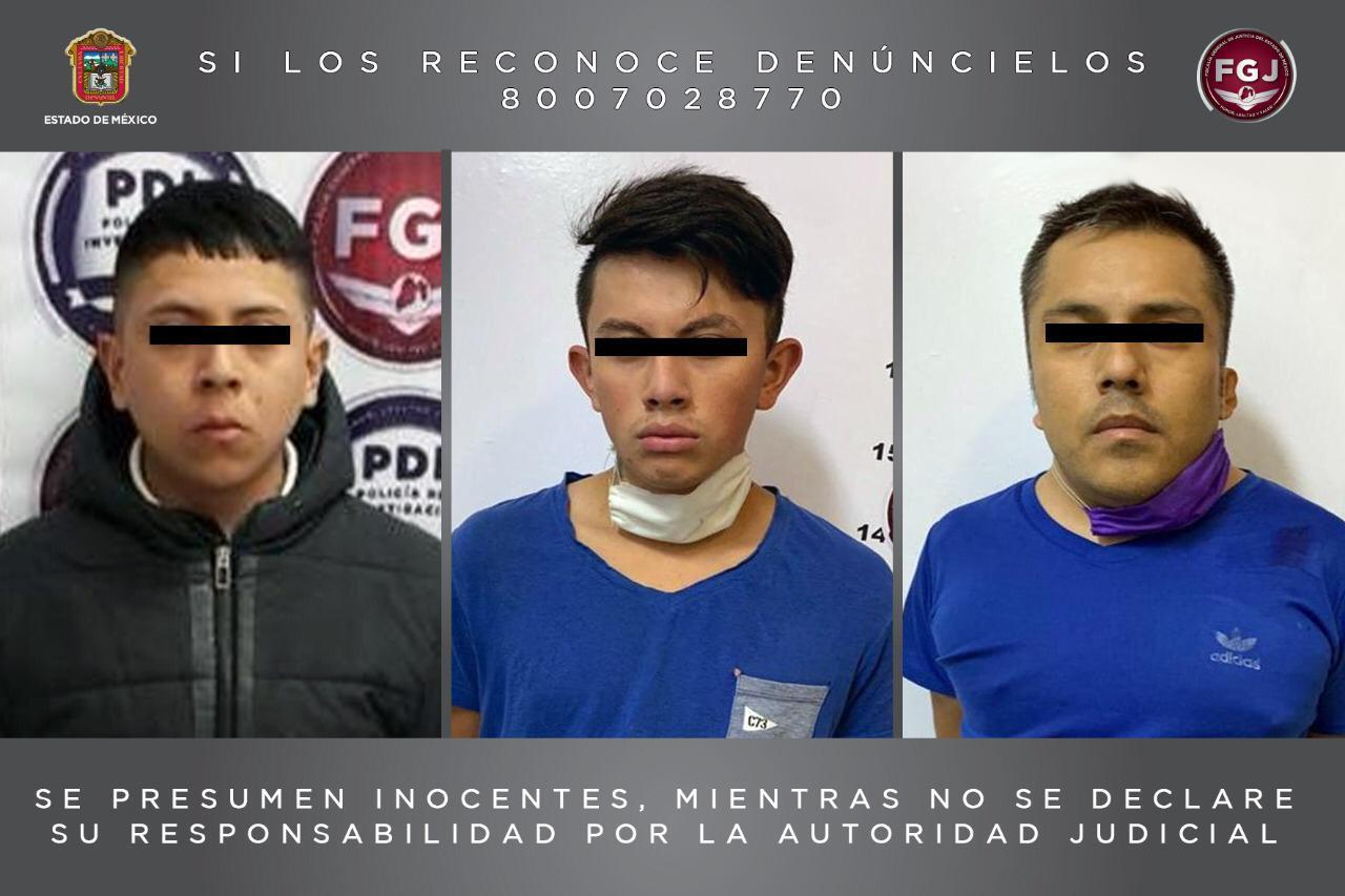 TRAS PRESUNTO ROBO DE VEHÍCULOS CON VIOLENCIA, TRES SUJETOS FUERON PROCESADOS