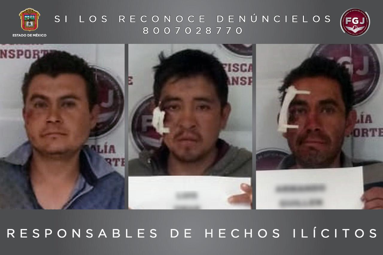 DAN 23 AÑOS DE PRISIÓN A ASALTANTES DE TRANSPORTE PÚBLICO EN TEXCOCO