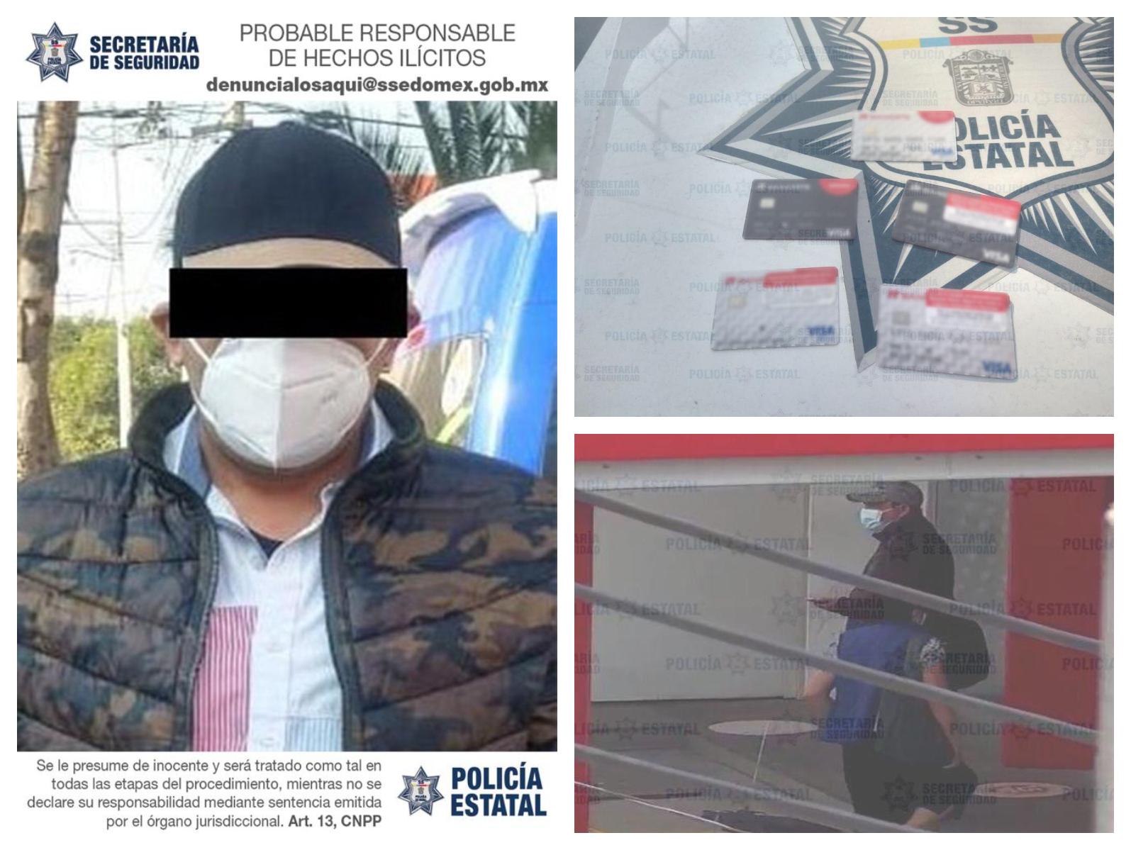 VIDEO: CAE PROBABLE DESPLAZADOR DE TARJETAS BANCARIAS