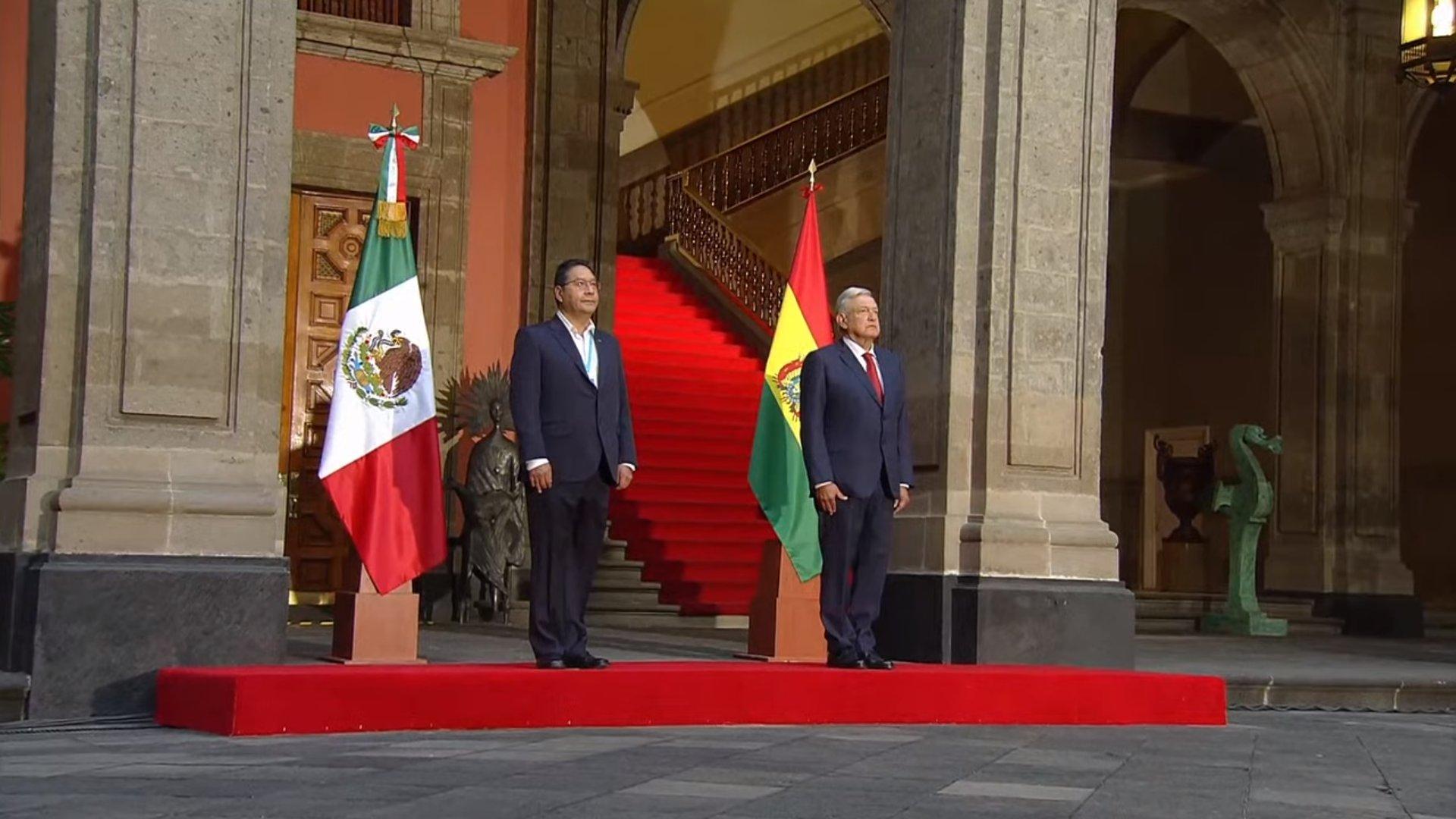 AMLO RECIBE EN PALACIO NACIONAL AL PRESIDENTE DE BOLIVIA