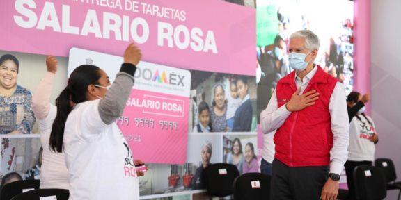MUJERES MEXIQUENSES RECIBEN TARJETAS DEL SALARIO ROSA