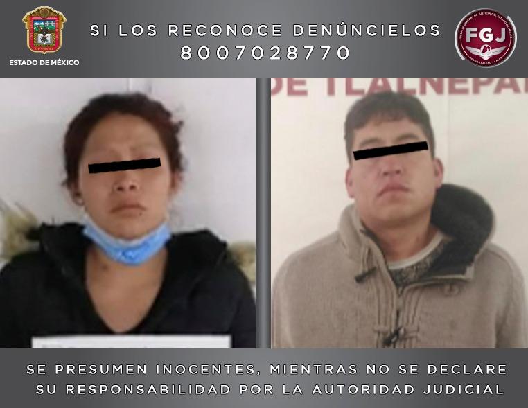 PAREJA INGRESA A UN PENAL DEL EDOMÉX POR EL PRESUNTO HOMICIDIO DE UN MENOR EN NICOLÁS ROMERO
