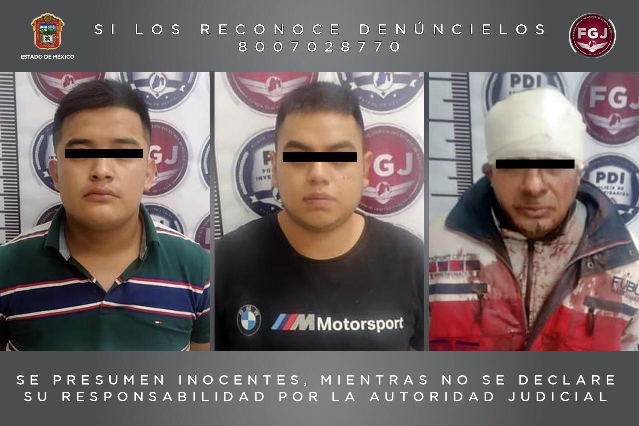 PROCESAN A TRES SUJETOS POR ROBO DE VEHÍCULO CON VIOLENCIA EN TLALNEPANTLA