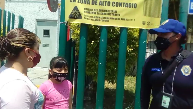 REALIZAN OPERATIVO EN EL MERCADO DE LA NUEVA VIGA PARA IMPEDIR AGLOMERACIONES