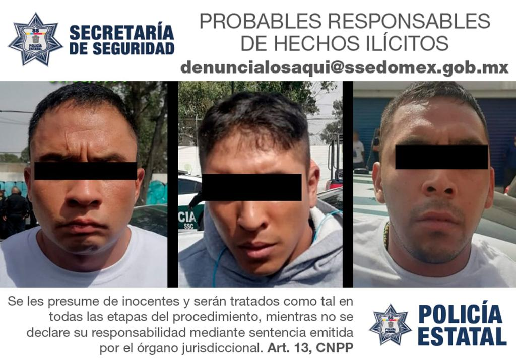 TRAS ROBO DE VEHÍCULO EN ECATEPEC, DETIENEN A TRES HOMBRES POSIBLES RESPONSABLES EN CDMX