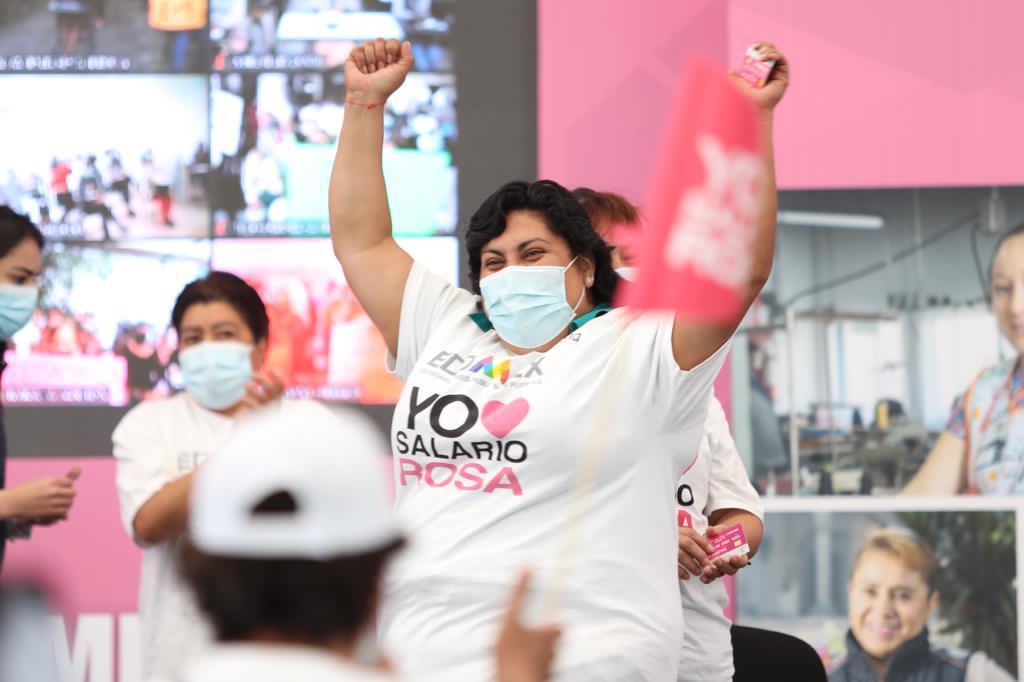 REFRENDA GEM SU COMPROMISO CON LAS MUJERES MEXIQUENSES A TRAVES DEL SALARIO ROSA