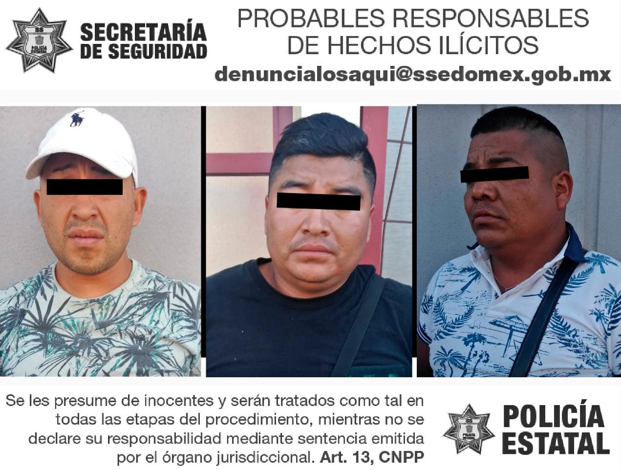 ANTE PRESUNTA PORTACIÓN DE ARMA DE FUEGO, ASEGURAN A 3 EN OPERATIVO CONJUNTO
