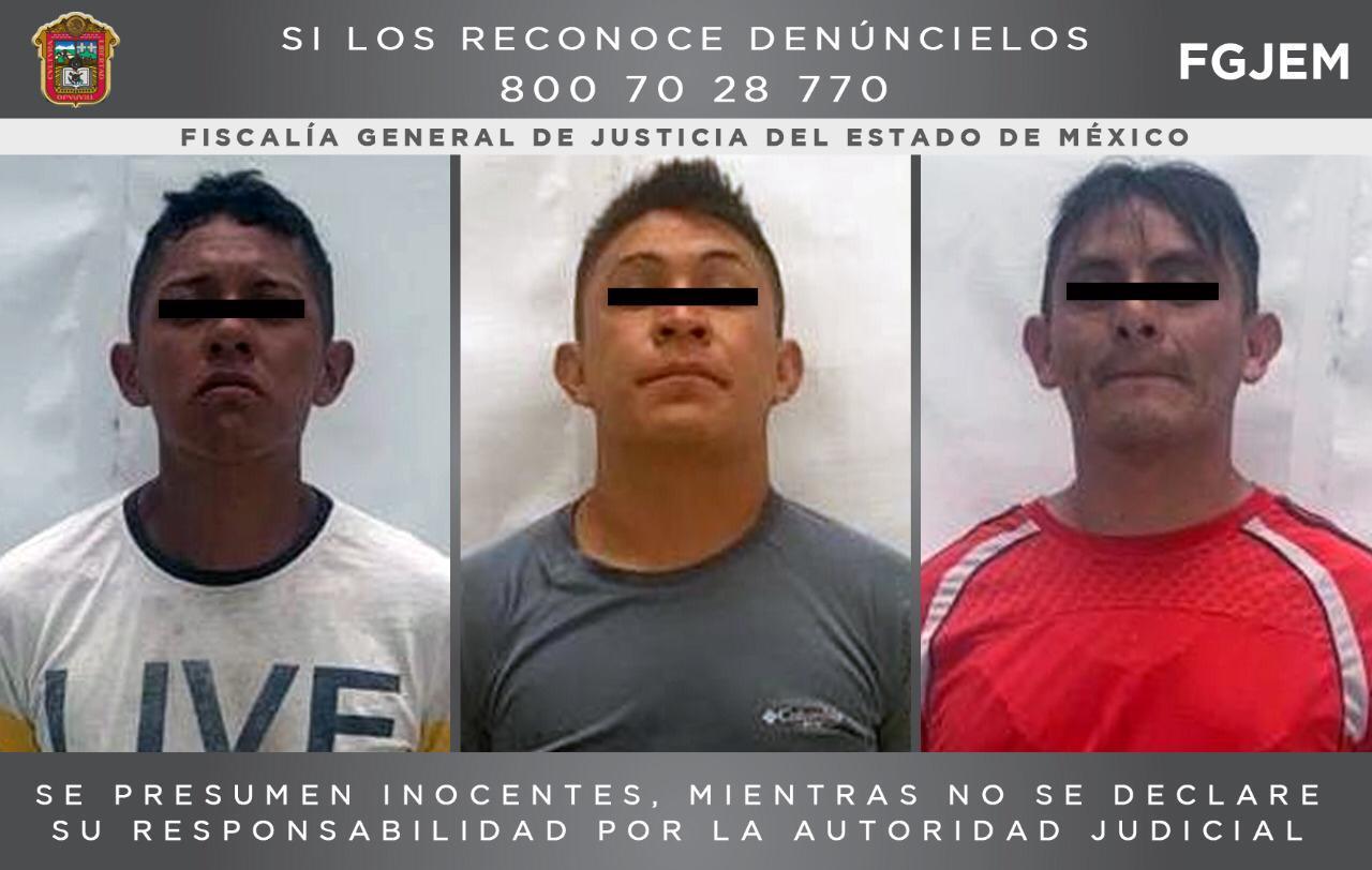 PROCESAN A TRES ASALTANTES DETENIDOS EN NICOLÁS ROMERO
