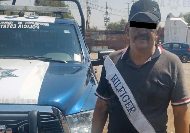 DETIENEN EN FLAGRANCIA A SOSPECHOSO DE ROBO EQUIPARADO DE VEHÍCULO