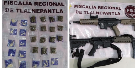 ASEGURAN ARMAS DE FUEGO Y ENVOLTORIOS DE DROGA TRAS CATEAR UN INMUEBLE