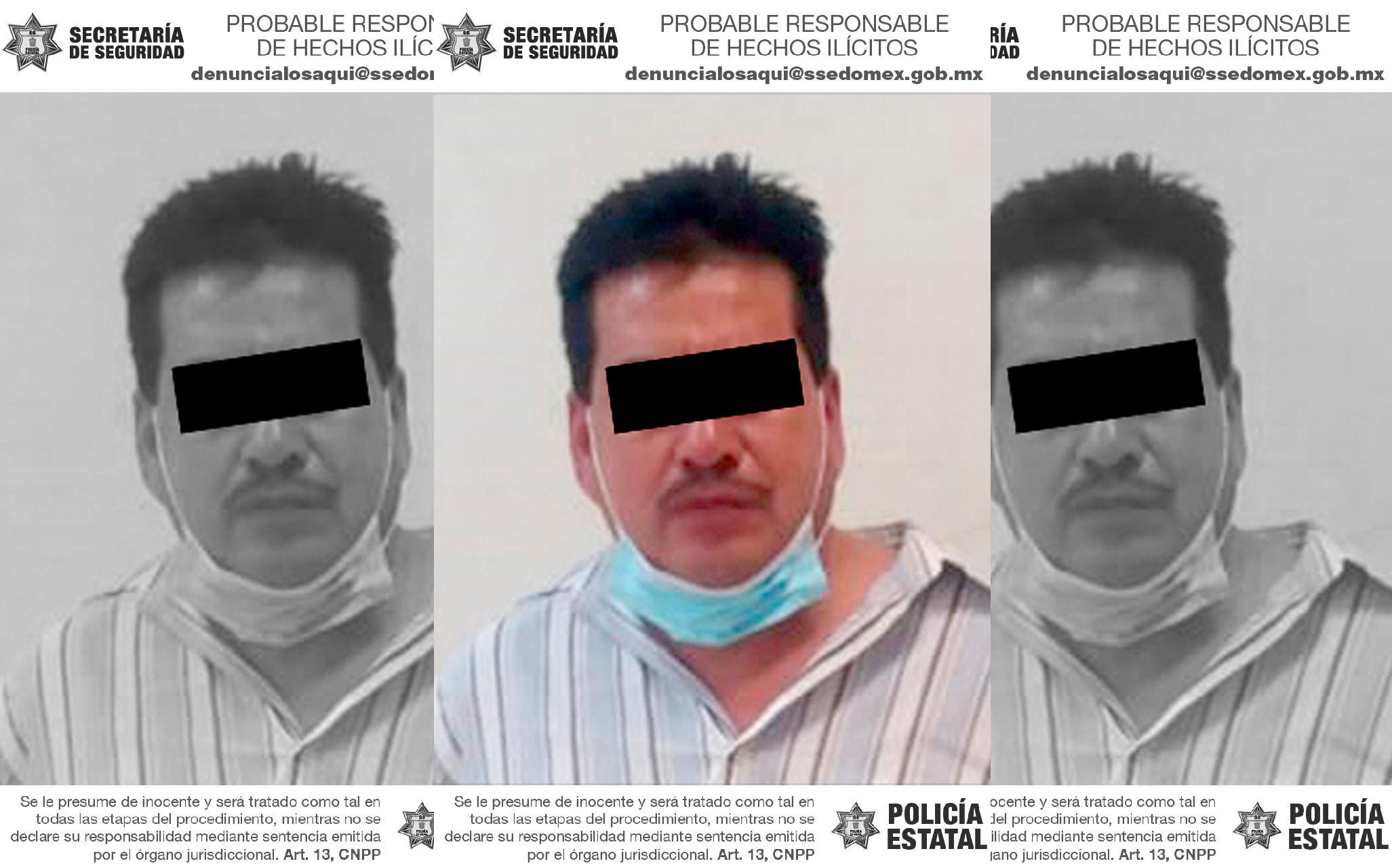 ASEGURAN A PROBABLE RESPONSABLE DE VIOLENCIA FAMILIAR Y ATAQUE PELIGROSO EN TEXCOCO