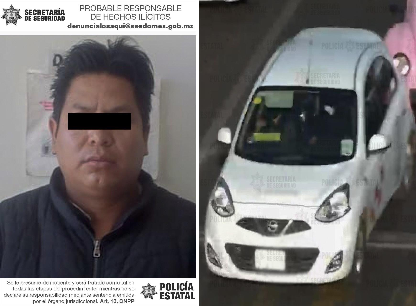 LOCALIZAN EN TOLUCA UN TAXI CON REPORTE DE ROBO, HAY UN DETENIDO
