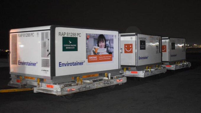 LLEGARON 500 MIL VACUNAS CONTRA COVID DE SINOVAC