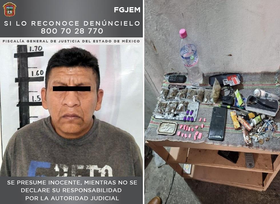 DESMANTELAN UN PUNTO DE VENTA DE DROGA EN ECATEPEC